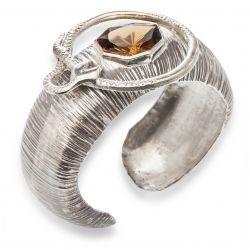 Bracelete serpente vitoriana com citrino