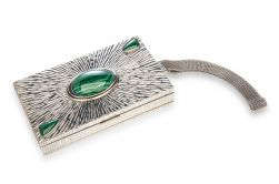 Clutch anos 1940 com malachitas